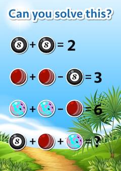 Feuille de travail de résolution de problèmes mathématiques