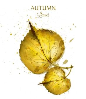 Feuilles d'aquarelle automne