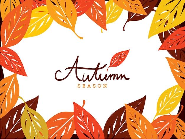 Feuilles d'automne cadre fond d'écran