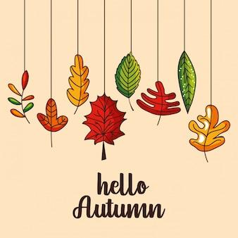 Feuilles d'automne chute de fond