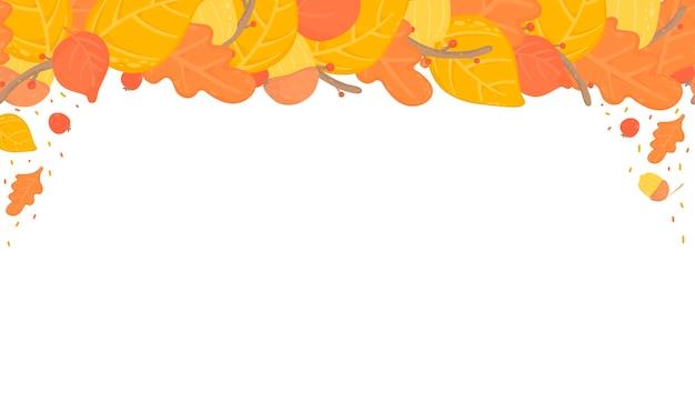 Feuilles d'automne fond transparent, feuilles d'automne orange et jaune, conception de branches. nature, articles organiques.vector