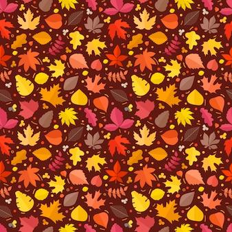 Feuilles d'automne fond transparent