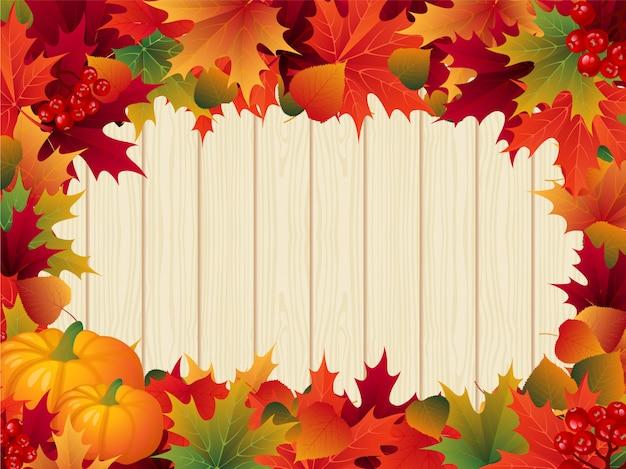 Feuilles d'automne frontière thanksgiving