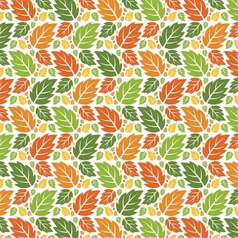 Feuilles d'automne modèle forêt sans soudure.