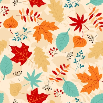 Feuilles d'automne modèle sans couture