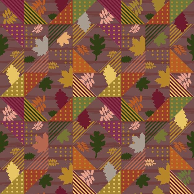 Feuilles d'automne motif géométrique abstrait
