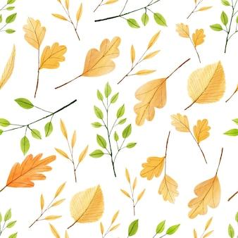 Feuilles d'automne sans soudure de vecteur