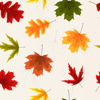Feuilles d'automne seamless pattern