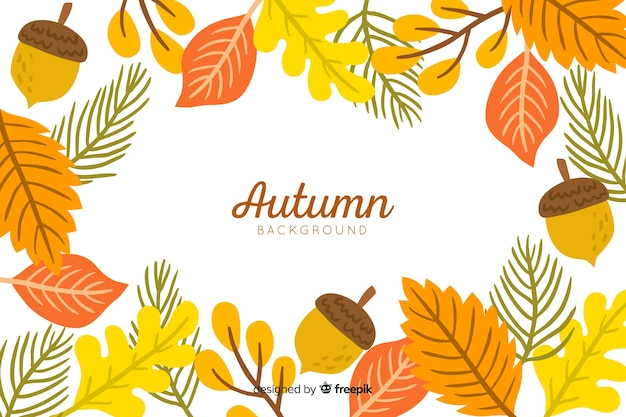 Feuilles d'automne style dessiné à la main