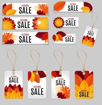 Feuilles d'automne vente fond illustration vectorielle eps10