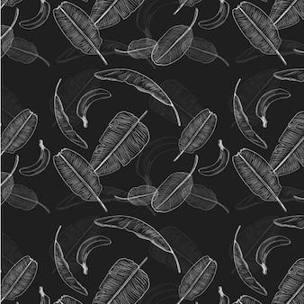 Feuilles de bananier motif