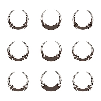 Feuilles et branche logo collection d'éléments