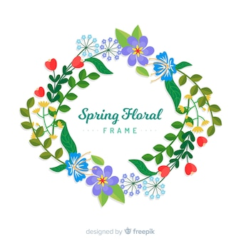 Feuilles cadre printemps fond