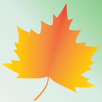 Feuilles d'érable cadre de papier découpé icône vecteur plat coloré de congé d'érable jaune
