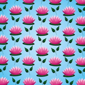Feuilles de fleurs de lotus