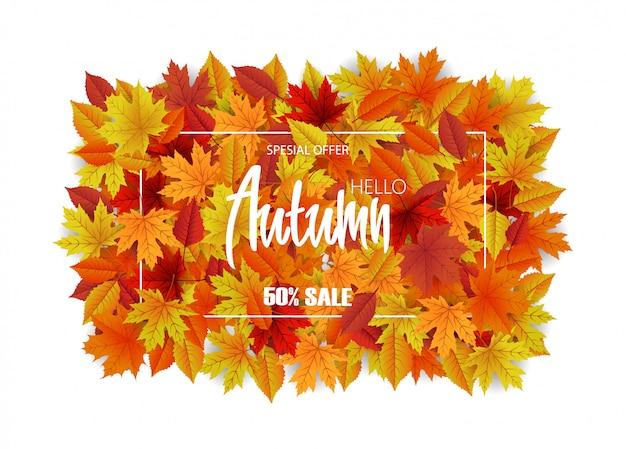 Feuilles fond d'automne