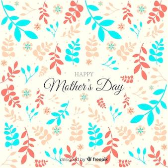 Feuilles fond fête des mères