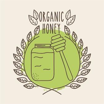 Feuilles icône organique