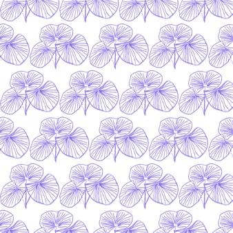 Feuilles ligne art seamless pattern design