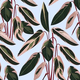 Feuilles de palmier coloré abstrait tendance.