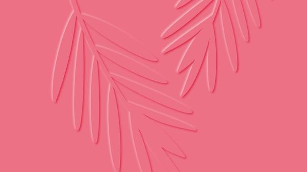 Feuilles de palmiers tropicaux.