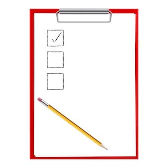 Feuilles de papier presse-papiers, modèle vierge de stylo.