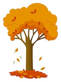 Feuilles sèches tombant de l'arbre