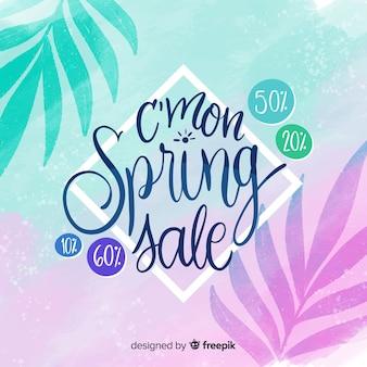 Feuilles silhouette printemps vente fond