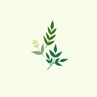 Feuilles symbole plante botanique illustration vectorielle