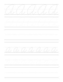 Feuilles de travail sur la pratique de l'écriture cursive pour les enfants
