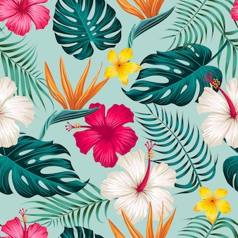 Feuilles tropicales, modèle sans couture de feuilles de jungle
