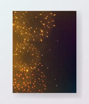 Feux d'artifice colorés lumineux sur fond de nuit