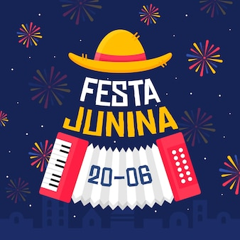 Feux d'artifice design plat festa junina