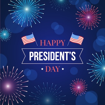 Feux d'artifice de la journée des présidents