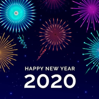 Feux d'artifice nouvel an 2020