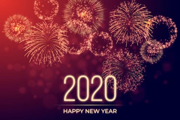 Feux d'artifice nouvel an 2020