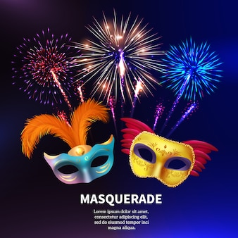 Feux d'artifice party masquerade