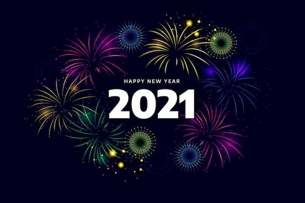 Feux d'artifice pour la célébration du nouvel an