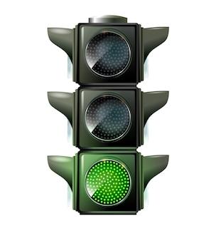 Feux de circulation eps feu vert