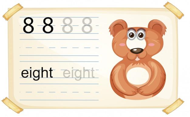 Fiche de travail numéro huit sur le dessin animalier