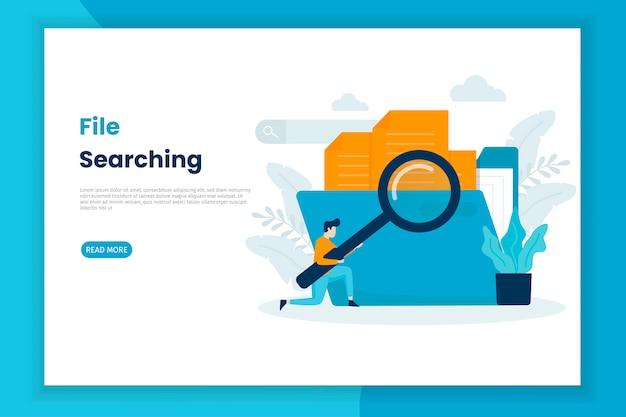 Fichier concept illustration moderne recherche page de destination.