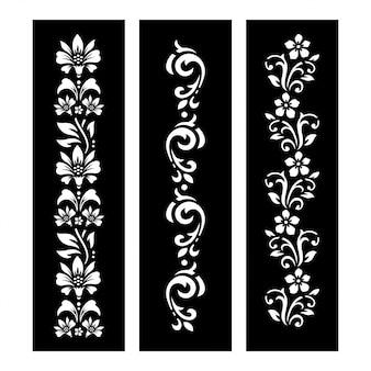 Fichier coupe floral noir et blanc