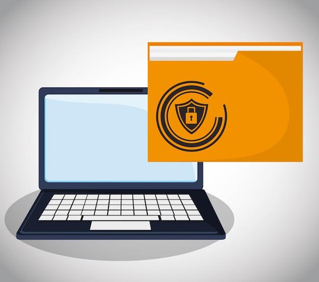 Fichier de dossier d'informations confidentielles de sécurité cybernétique