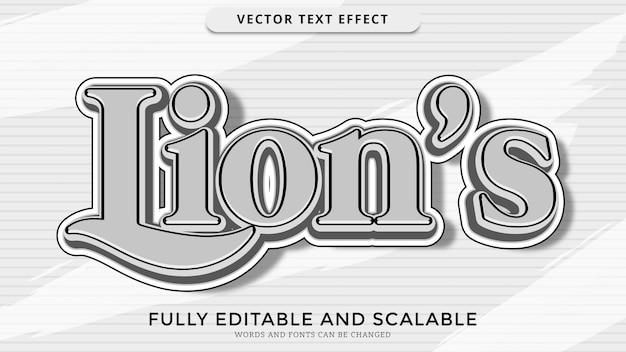 Fichier eps édité par effet de texte lion
