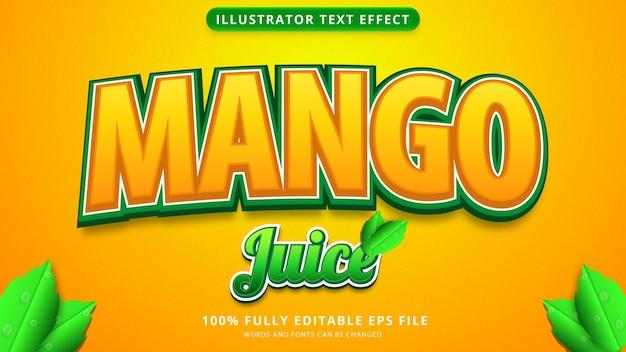 Fichier eps d'effet de texte de jus de mangue