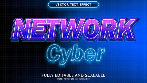 Fichier eps modifiable effet de texte cyber réseau