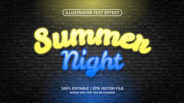 Fichier eps modifiable d'effet de texte d'été 3d