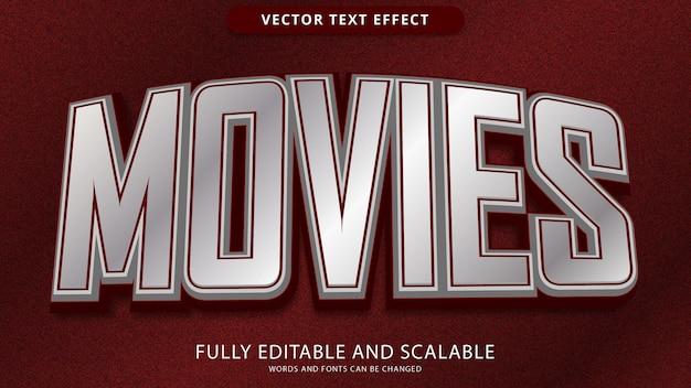 Fichier eps modifiable d'effet de texte de films