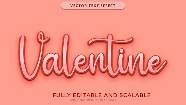 Fichier eps modifiable effet de texte saint valentin