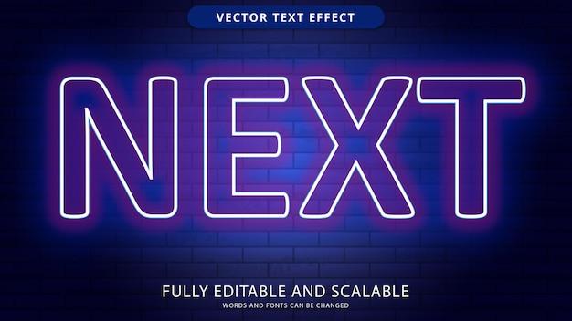 Fichier eps modifiable d'effet de texte suivant